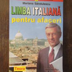 LIMBA ITALIANA PENTRU AFACERI -MARIANA SANDULESCU