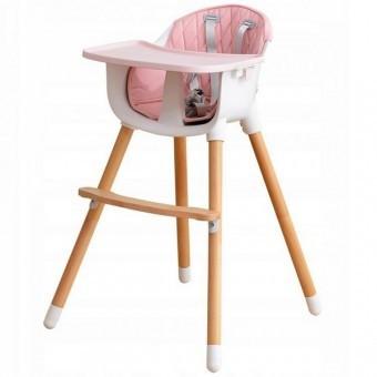 Scaun De Masa 2 in 1 pentru copii 6-36 luni - Roz foto