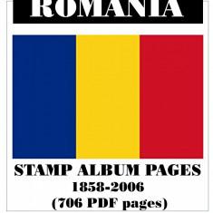 PAGINI DE ALBUM CATALOG ROMÂNIA 1858-2006 (706 pagini) - format PDF