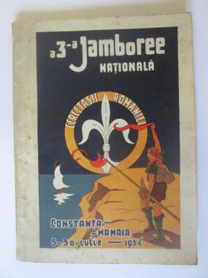 Rară!Cărticica Cercetașii Romaniei,a3-a Jamboree Natională Constanța-Mamaia 1934 foto