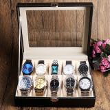 Cumpara ieftin Cutie pentru 10 ceasuri piele ecologica, China
