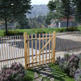 VidaXL Poartă de gard, lemn de alun 100x120 cm