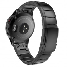 Curea metalica Tech-Protect Steelband Garmin Fenix 5/6/6 Pro Black