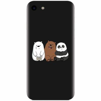 Husa silicon pentru Apple Iphone 5c, Bears foto