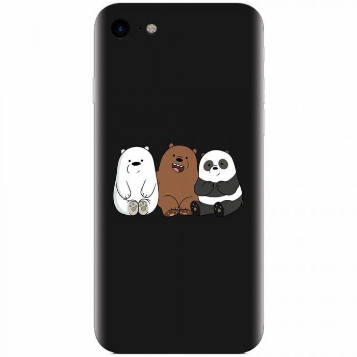 Husa silicon pentru Apple Iphone 5c, Bears
