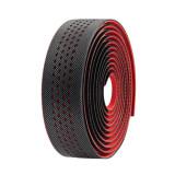 Ghidolina bicicleta, din piele ecologica, negru/rosu, 0627