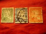 3 Timbre Germania Rheinland - 1000 Ani Rheinland , stampilate