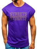 Maiou cu imprimeu bărbați violet Bolf 19256