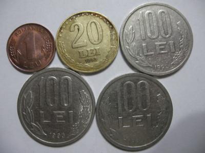 Romania (84) - 1, 20 Lei 1993, 100 Lei 1992, 1993, 1994 foto
