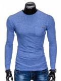 Cumpara ieftin Bluza pentru barbati, din bumbac, albastru, simpla, slim fit - L103, XL