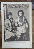 SASI DIN VULCAN , BRASOV , IN COSTUME TRADITIONALE , CARTE POSTALA ILUSTRATA , MONOCROMA , NECIRCULATA , DATATA 1917