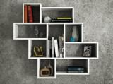 Raft de perete Tera Home, din melamina 100%, 115.5 x 103.5 x 15 cm, 804TRH1602