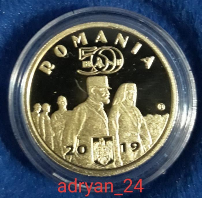 Set monede 50 bani BNR Proof - Regele Ferdinand I și Regina Maria