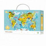 Puzzle - Harta animalelor lumii (80 piese), Dodo