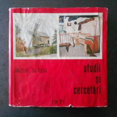 GHEORGHE FOCSA - MUZEUL SATULUI. STUDII SI CERCETARI (1971)