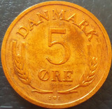 Moneda 5 ORE - DANEMARCA, anul 1972 *cod 800 B, Europa