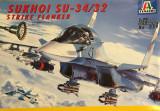 Machetă avion SUKHOI SU-34/32. Strike flanker (1:72) Neasamblat, kit complet.