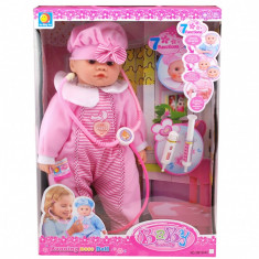 """Bebelus de jucarie """"La Doctor"""" set cu bebelus si accesorii pentru copii"""