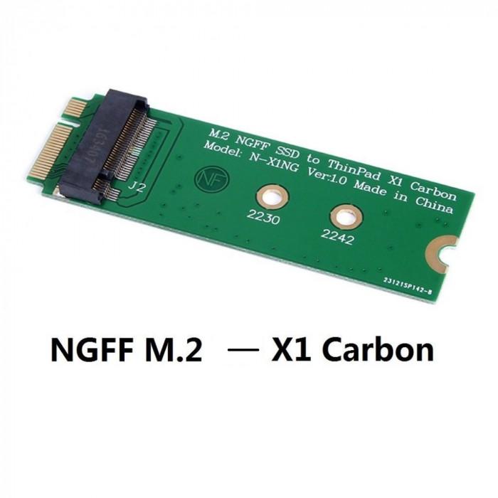 Adaptor convertor SSD M.2 NGFF (SATA) la SSD Lenovo ThinkPad X1 Carbon 20+6pin