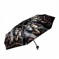 Umbrela pliabila lupi Suflet Pereche - Anne Stokes