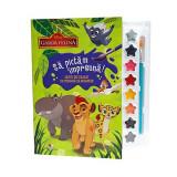Carte de colorat cu pensula si acuarele Garda Felina - Sa pictam impreuna, Disney