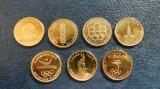 Lot 7 medalii cu olimpiade noi, aurite