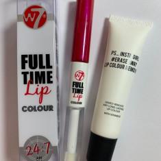 Ruj rezistent la transfer W7 Full Time Lip Color + cadou demachiant buze