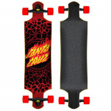 Longboard Santa Cruz Flame Dot Drop Down Black/Red