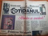 Cotidianul 22-23 aprilie 1995-art printesa stephanie,whitney huston,poster abba