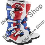 MBS Cizme motocross Alpinestars Tech 5, alb/rosu/albastru, 11=45.5, Cod Produs: 34101320PE