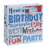 Punga medie pentru cadou - Happy Birthday Boy | Meridian Import Company