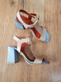 LICHIDARE STOC! Superbe sandale dama noi piele naturala fina foarte comode 37,5