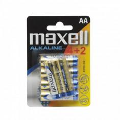 Baterii alcaline AA LR06 - 4+2 /blister