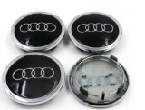 Capace jante audi 69mm black/crom  A3/S3/RS3/A4/S4/RS4/A6/S6/RS6/A8/Q3/Q5/TT/R8