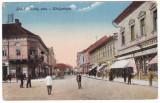 #2397- Romania, Lugoj carte postala circulata 1917: Scena strada Király