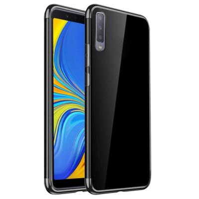 Husa SAMSUNG Galaxy A7 2018 - Plating Soft (Negru) foto
