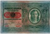 Bancnote Austro Ungaria-100 Koroane 1912