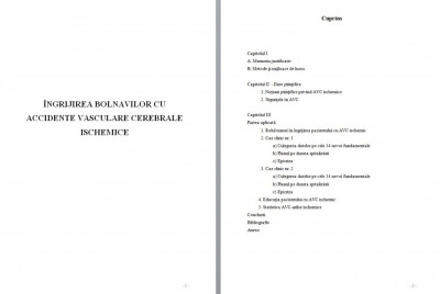 LICENTA AMG – ÎNGRIJIREA BOLNAVILOR CU ACCIDENTE VASCULARE CEREBRALE ISCHEMICE foto