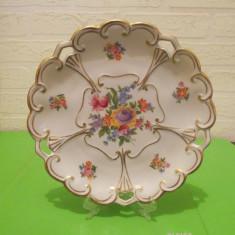 Raritate !!! PORTELAN vechi de colectie ILMENAU decor floral , decupaj, Decorative