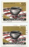 România, LP 832/1973, Ceramică românească, eroare, tipar ilizibil, oblit.