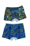 Set 2 boxeri pentru baieti Sun City Testoasele Ninja DPH3095N, Multicolor