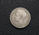 Spania - 1 Pesetas 1900 - Argint