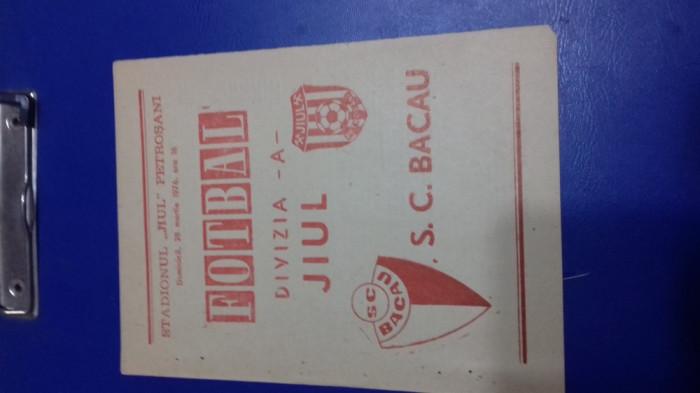 program Jiul - SC Bacau