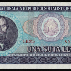 Romania, 100  lei 1966_serie H.0215_892281