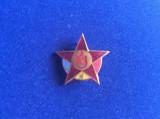 Insignă pionier - Pionier distincție steluță (în centru cu bronz) - Pionieri