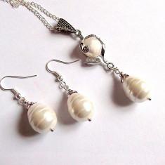 set bijuterii cu perle naturale 33966