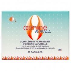 Oemine Neptune Krill Oil, Omega 3, Omega 6, Omega 9, 30 gelule