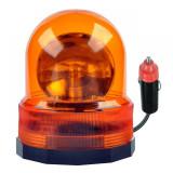 Girofar cu semnal luminos rotativ URZ0071, alimentare 24 V, portocaliu