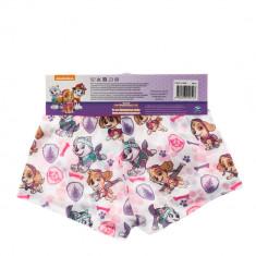 Boxeri fete Paw Patrol albi cu bata roz
