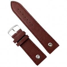 Curea de ceas din piele ecologic? maro - 24mm WZ2860